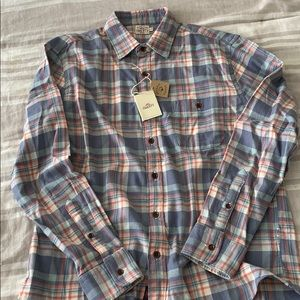 Faherty Men's Stretch Flannel Seaview Shirt L NWT!